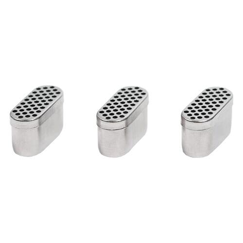 As BudKups para vaporizador Boundless podem encher-se com até 0,5 gramas de erva.