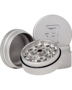 The Herb Ripper is a 4-piece Stainless Steel Grinder made of 100% stainless steel.