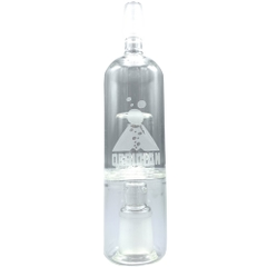 The Obsidian Glass Bubbler makes the vapor smoother to inhale by lowering the temperature and raising the humidity
