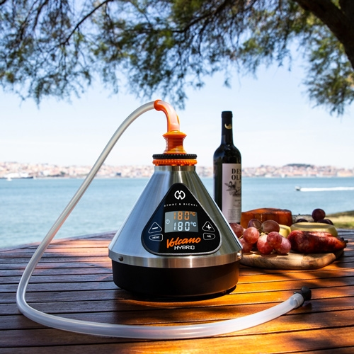 The Volcano Hybrid is a stationary vaporizer made in Germany by Storz & Bickel