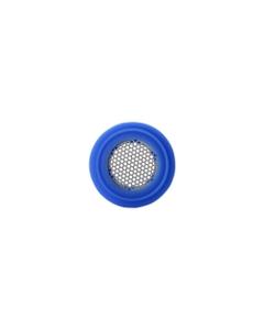 Silikonový kroužek se sítkem na náustek připevněným k sobě.